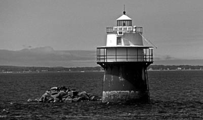 Duxbury Photograph - Duxbury Pier Lighthouse Ma by Skip Willits