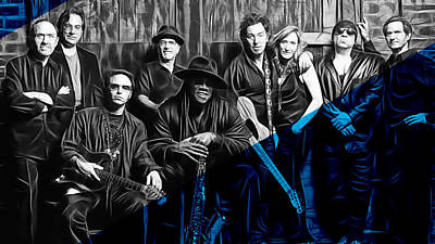 E Street Band Collection Art Print by Marvin Blaine