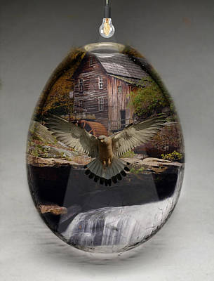 Mixed Media - Eagle Art by Marvin Blaine
