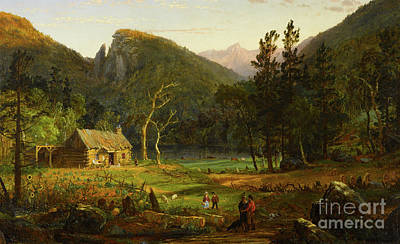 Painting - Eagle Cliff, Franconia Notch, New Hampshire by Jasper Francis Cropsey