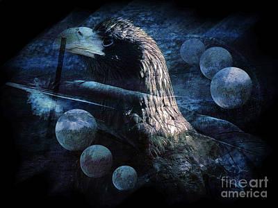 Spirit Guides Digital Art - Eagle Feather by Robert Ball