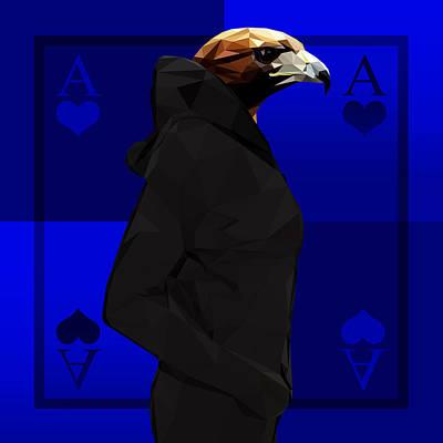 Eagle Digital Art - Eagle by Gallini Design