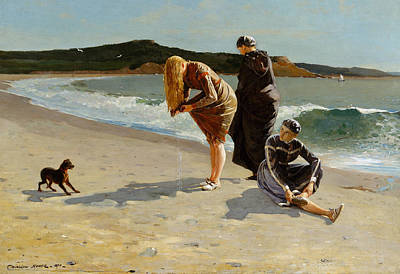 Massachusetts Coast Painting - Eagle Head, Manchester, Massachusetts  High Tide by Winslow Homer