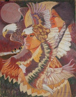 Pastel - Eagle Medicine by Pamela Mccabe