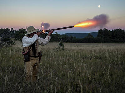 Photograph - Early 1800's Flintlock Muzzleloader Blast by Nadja Rider