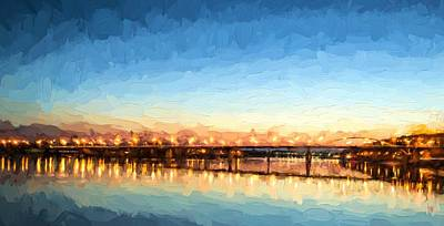Photograph - Early Evening Bridge At Sunset by John Williams