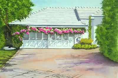 Wall Art - Painting - Early Morning In Coral Gables by Terry Arroyo Mulrooney