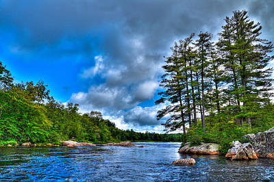 Water Droplets Sharon Johnstone - An Early Summer on the Moose River by David Patterson