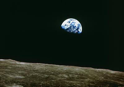 Earthrise Over Moon, Apollo 8 Art Print