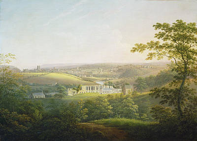 Painting - Easby Abbey, Near Richmond by George Cuitt The Younger