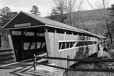 East And West Paden Twin Bridge Art Print