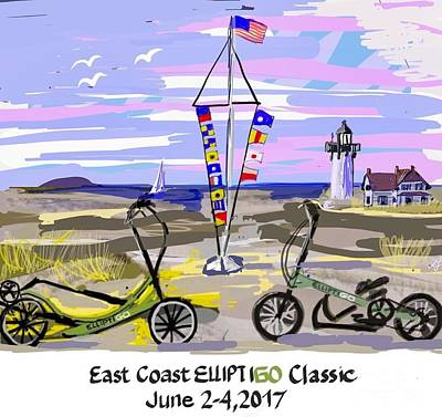 Painting - East Coast Elliptigo Classic by Francois Lamothe