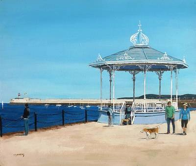 East Pier Bandstand Art Print by Tony Gunning