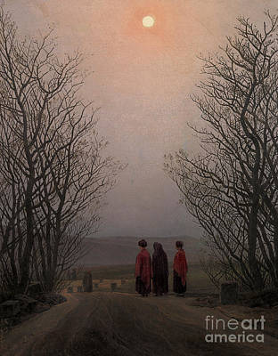 Cemetery Painting - Easter Morning by Caspar David Friedrich