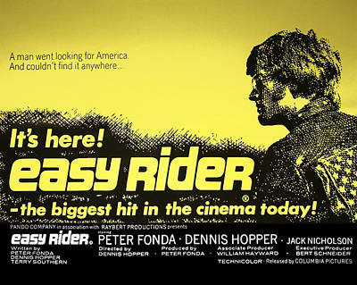Easy Rider Movie Lobby Poster   1969 Art Print by Daniel Hagerman