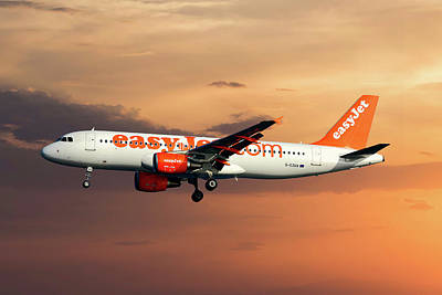 Mykonos Photograph - Easyjet Airbus A320-214 by Smart Aviation