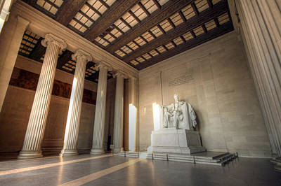 Lincoln Memorial Wall Art - Photograph - Echoes Of Liberty by Mitch Cat