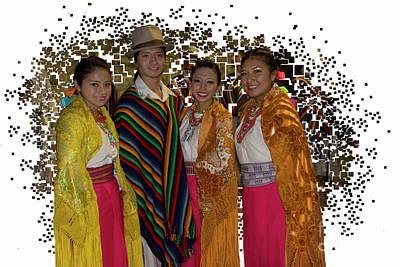 Photograph - Ecuadorian Dance Troupe by Al Bourassa