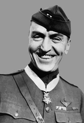 Pioneers Painting - Eddie Rickenbacker  by War Is Hell Store