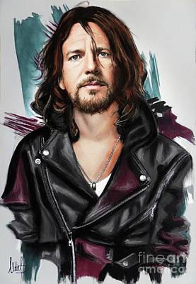Pearl Jam Mixed Media - Eddie Vedder by Melanie D