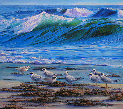 North Sea Painting - Edge Of The Sea by Sharon Kearns
