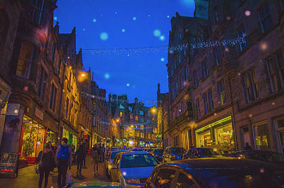Photograph - Edinburgh By Night by Edyta K Photography