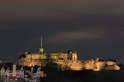 Photograph - Edinburgh Castle At Night by Veli Bariskan