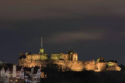 Photograph - Edinburgh Castle At Night by Veli Bariskan