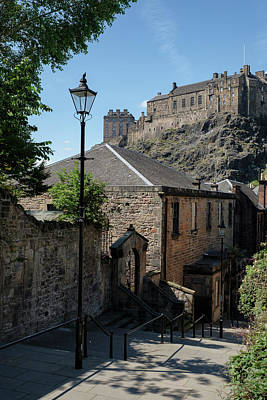 Photograph - Edinburgh Castle In Scotland by Jeremy Lavender Photography