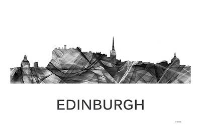 Digital Art - Edinburgh Scotland Skyline by Marlene Watson