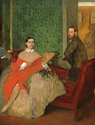 Painting - Edmondo And Therese Morbilli by Edgar Degas