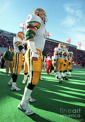 Photograph - Edmonton Eskimos Football - Danny Bass - 1990 by Terry Elniski