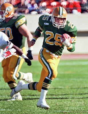 Photograph - Edmonton Eskimos Football - Tom Richards 1 - 1988 by Terry Elniski