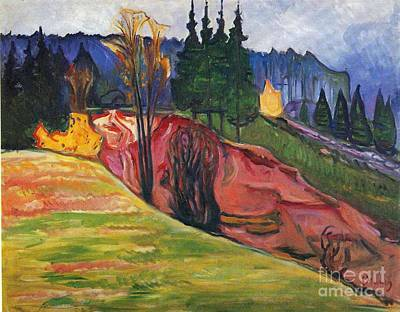 Munch Painting - Edvard Munch by MotionAge Designs