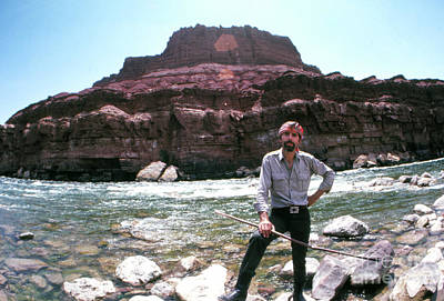 1960s Portraits Photograph - Edward Abbey By The Colorado River by The Harrington Collection