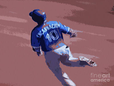 Digital Art - Edwin Encarnacion by Nina Silver