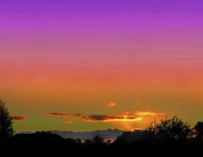 Photograph - Eerie Sunset by Mark Blauhoefer