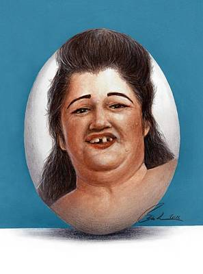 Egg Lady Art Print