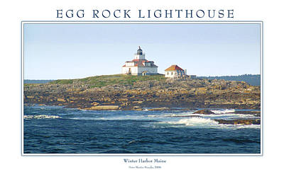 Egg Rock Island Lighthouse Art Print by Peter Muzyka