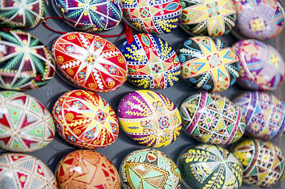 Photograph - Eggs Decorated For Easter by Willie Harper