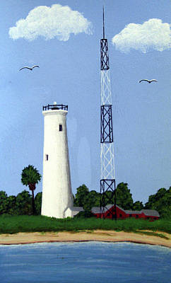 Painting - Egmont Key Lighthouse by Frederic Kohli