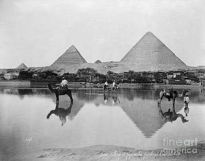 Photograph - Egypt, Pyramid, C1900.  by Granger