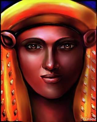 Egyptian Goddess -hathor Art Print