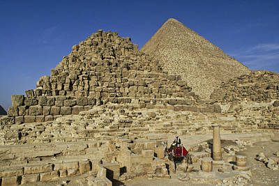 Photograph - Egypt's Pyramids Of Giza by Michele Burgess