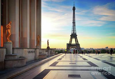 Photograph - Eiffel Tour From Trocadero, Paris by Anastasy Yarmolovich