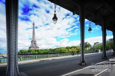 Photograph - Eiffel Tour With Old Bridge by Anastasy Yarmolovich