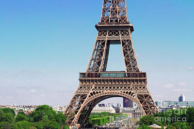 Paris Skyline Royalty-Free and Rights-Managed Images - Eiffel Tower and Paris cityscape by Anastasy Yarmolovich