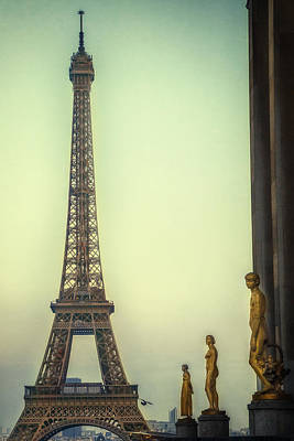 Bleached Tree Photograph - Eiffel Tower by Andrew Soundarajan