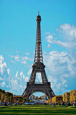 Photograph - Eiffel Tower by Anthony Dezenzio
