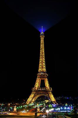 Paris Skyline Photos - Eiffel Tower at Night by Andrew Soundarajan